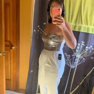 Express white jumpsuit worn once to bachelorette